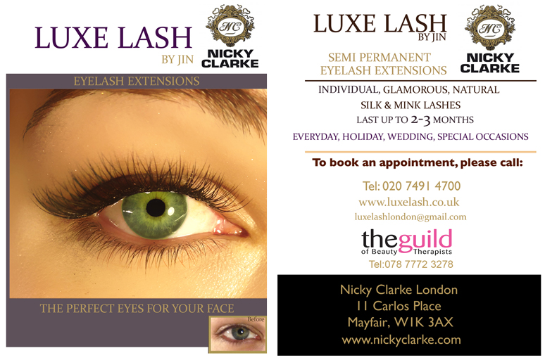 Eyelash Extensions Luxe Lash London And Nicky Clarke London